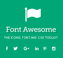 Font Based Social Icons